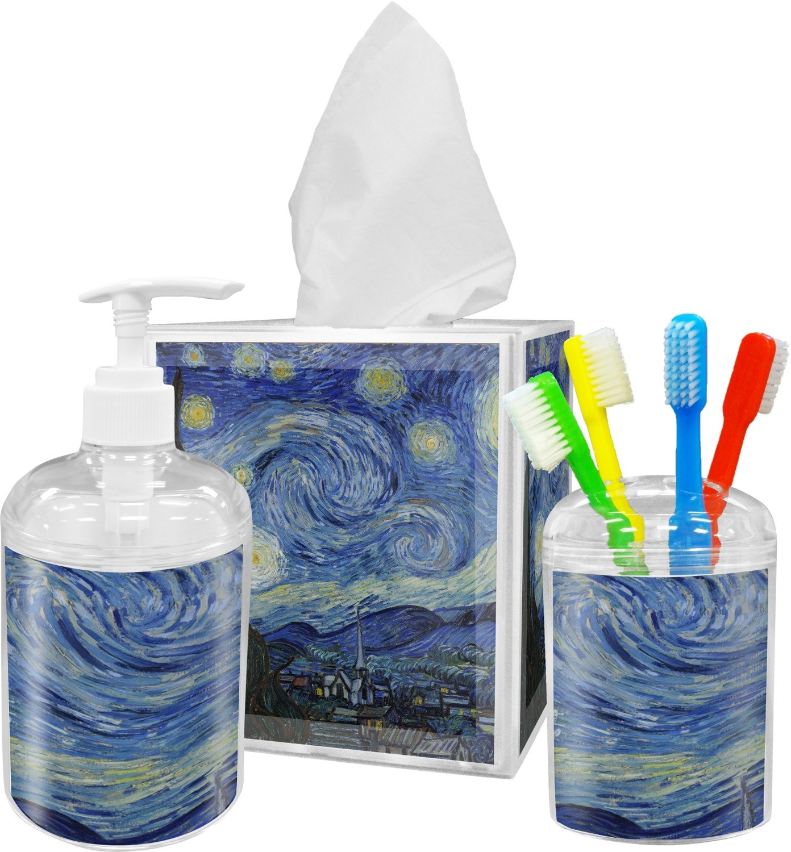 La noche estrellada (Van Gogh 1889) vaso para cepillos de dientes: Amazon.es: Hogar