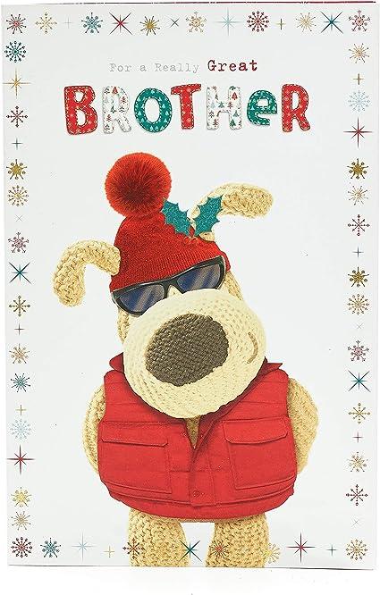 Boofle, biglietto di Natale per fratello, carino biglietto di