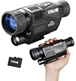 "ESSLNB Night Vision Monocular 5X40 HD Night Vision Infrared Monocular with 1.5"" TFT LCD Take Photos and Videos Playback…"