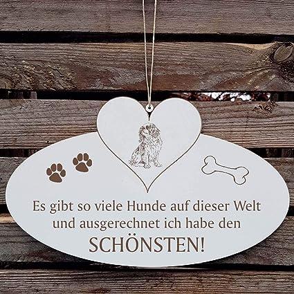 Cartel decorativo con corazón « Bonito perro del mundo ...