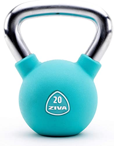 ZIVA Premium Virgin Rubber Solid Cast Steel Kettlebell Weight