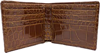 product image for Cognac Full Alligator Wallet, Gator and Crocodile Collection
