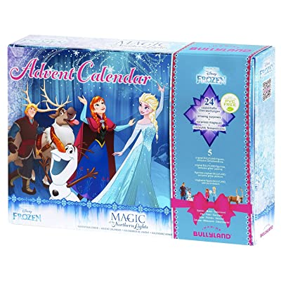 Bullyland Frozen Calendrier de l'Avent Northern Lights Frozen.2 - avec 5 mini-figurine - Anna et Elsa Glitters