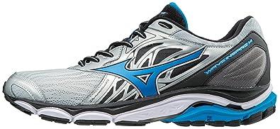 8580b132ddd5 Mizuno Men's Wave Inspire 14 Running Shoe, Silver/Directoire Blue, ...