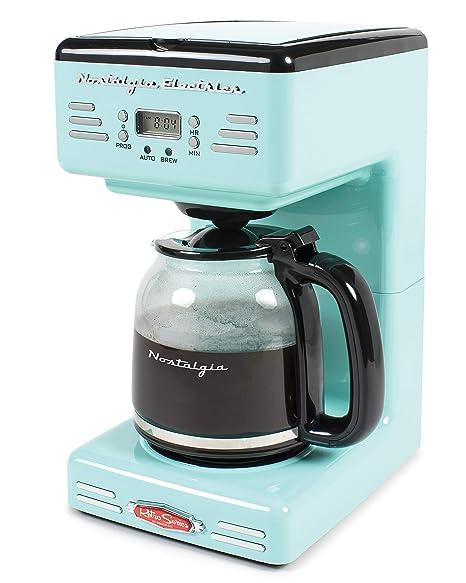 f9c972f48a7 Nostalgia RCOF120AQ Retro 12-Cup Programmable Coffee Maker – Aqua Blue