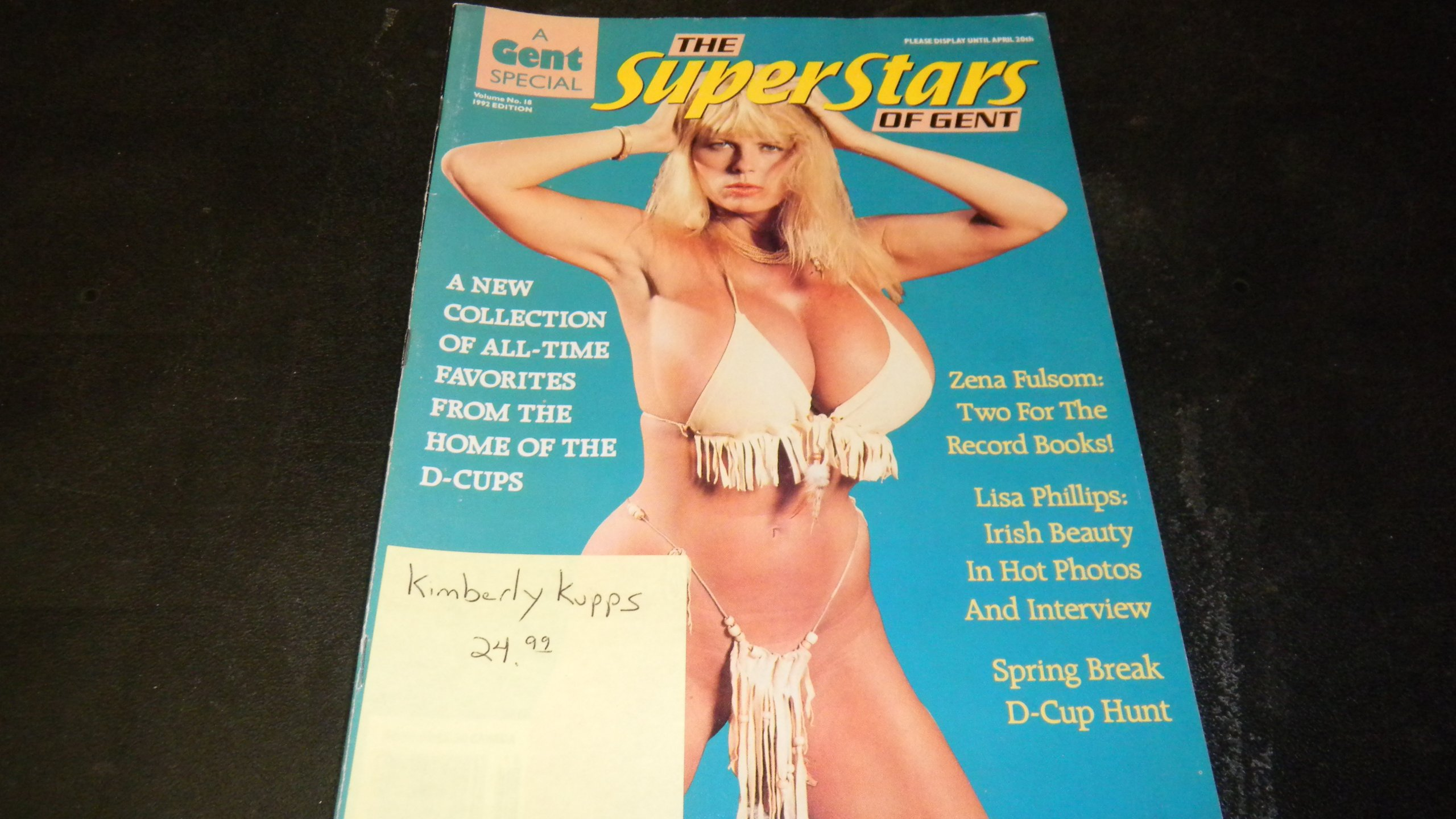 Gent Busty Adult Magazine Superstars Special No 18 1992 Edition Kimberly Kupps Unbound 1992