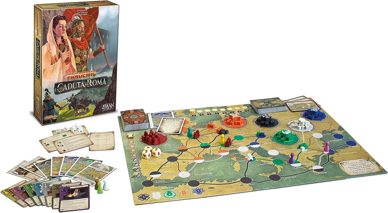 ASMODEE - Pandemic: LA CADUTA DI Roma - Italiano: Amazon.es: Juguetes y juegos
