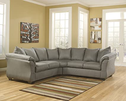 Sensational Amazon Com Darcy 75005 55 56 Stationary Fabric Sectional Cjindustries Chair Design For Home Cjindustriesco