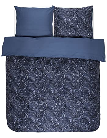 Essenza Satin Bettwäsche Mirre Farbe Blue 155x220cm80x80 100