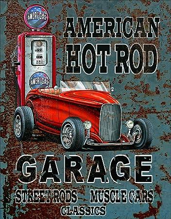 Quickies Hot Rod Retro Metal Tin Sign Homewares Decor Vintage Pinup Garage Car