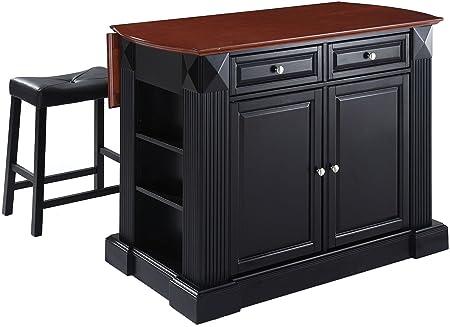 Crosley Furniture Drop Leaf Breakfast Bar Top Kitchen Island In