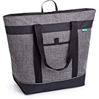 Jumbo Insulated Cooler Bag (Heather Gray) with HD Thermal Foam Insulation - Premium Quality Insulated Tote Bag. Perfect…