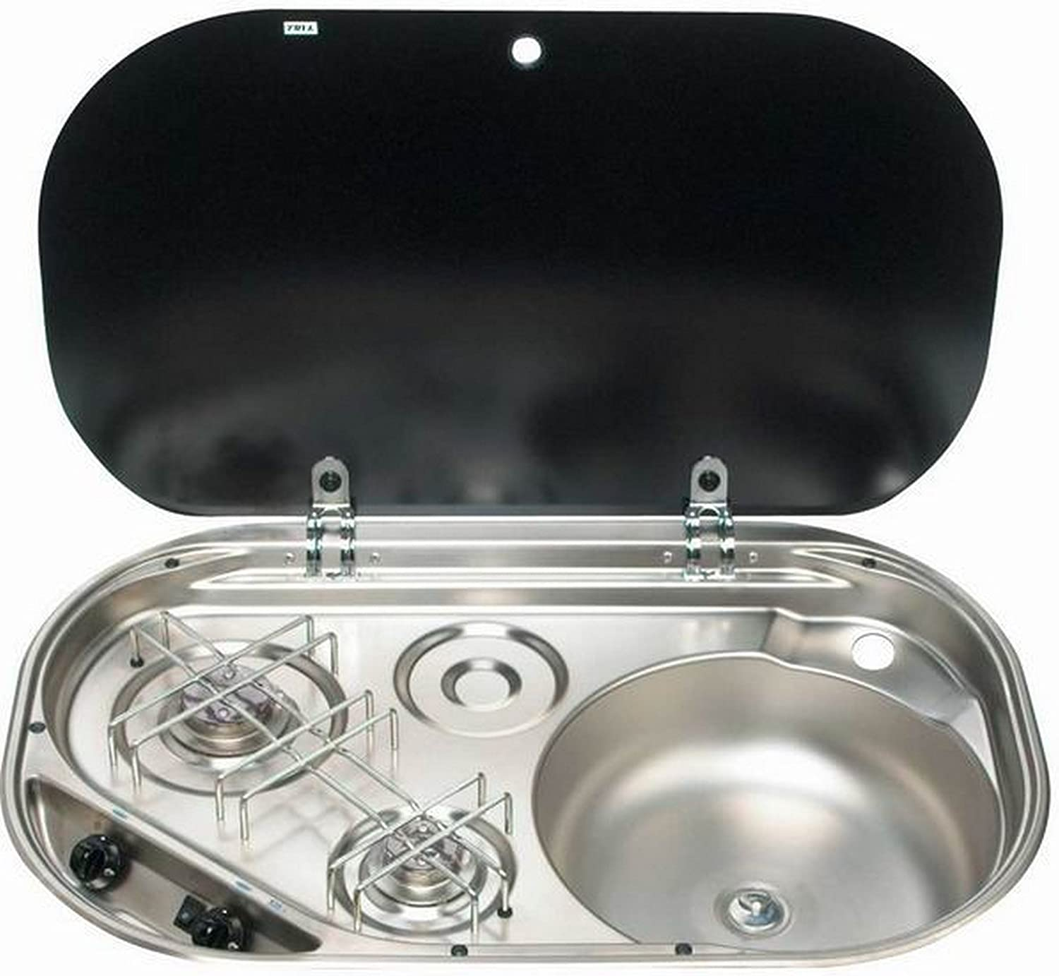 Smev Sink/Hob Combination Unit With Glass Lid