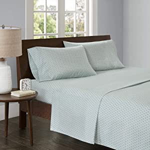 Madison Park 3M Microcell Color Fast, Wrinkle and Stain Resistant, Soft Sheets with 16