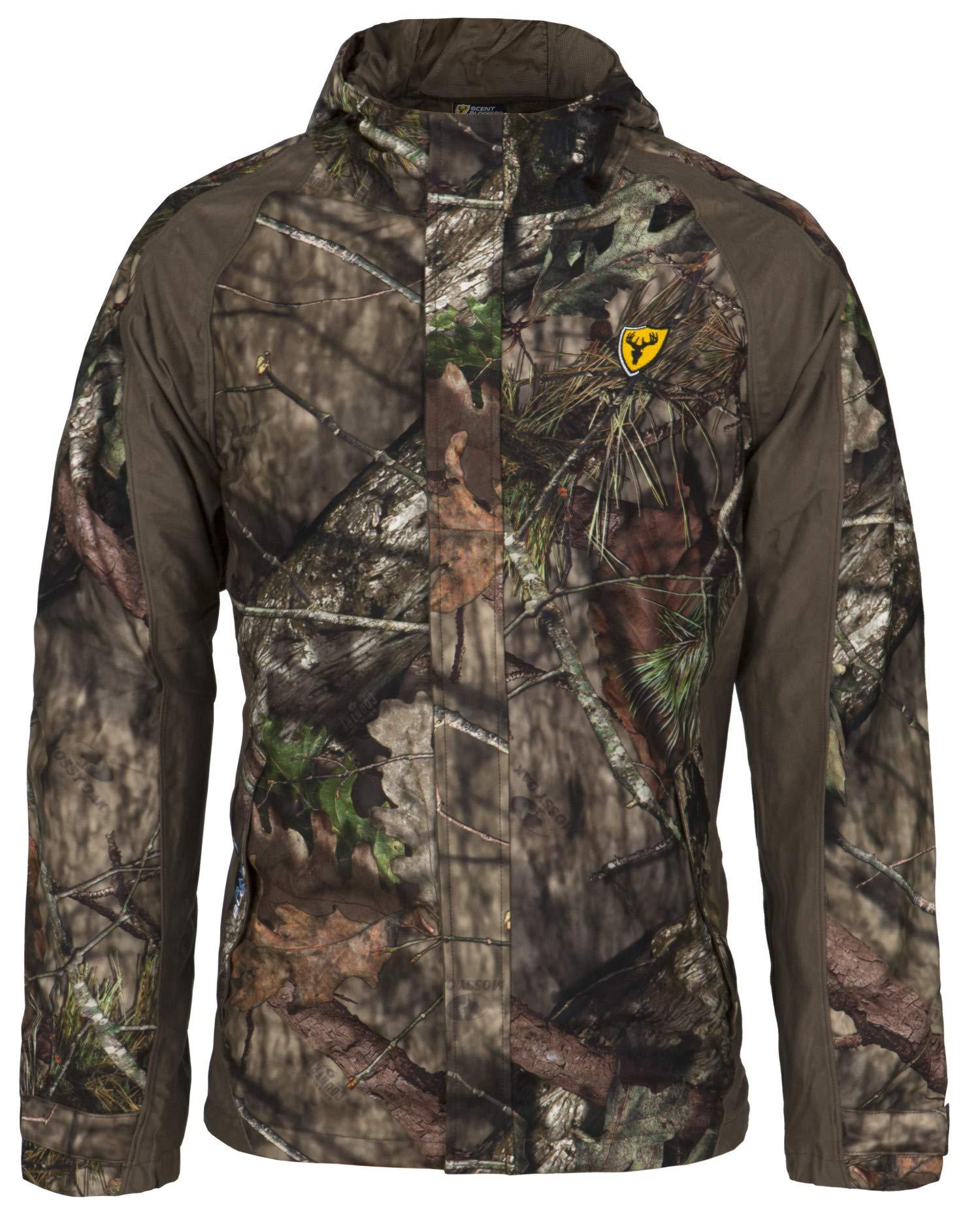 Scent Blocker Drencher Jacket with Hood, Waterproof, Odor Control, Mens - XXXL - Mossy Oak Country by Scent Blocker