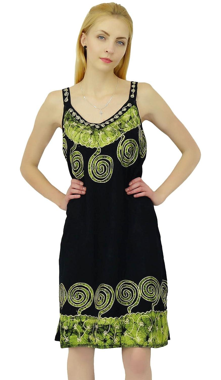 0b86687ea458 SEASHORE Viscose Rayon Top Batik Printed Casual Tunic Summer Dress Women  Beach Sundress  Amazon.co.uk  Clothing