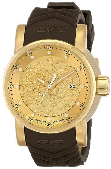 Invicta 12790 - Reloj de Pulsera Hombre, Silicona, Color Marrón: Invicta: Amazon.es: Relojes