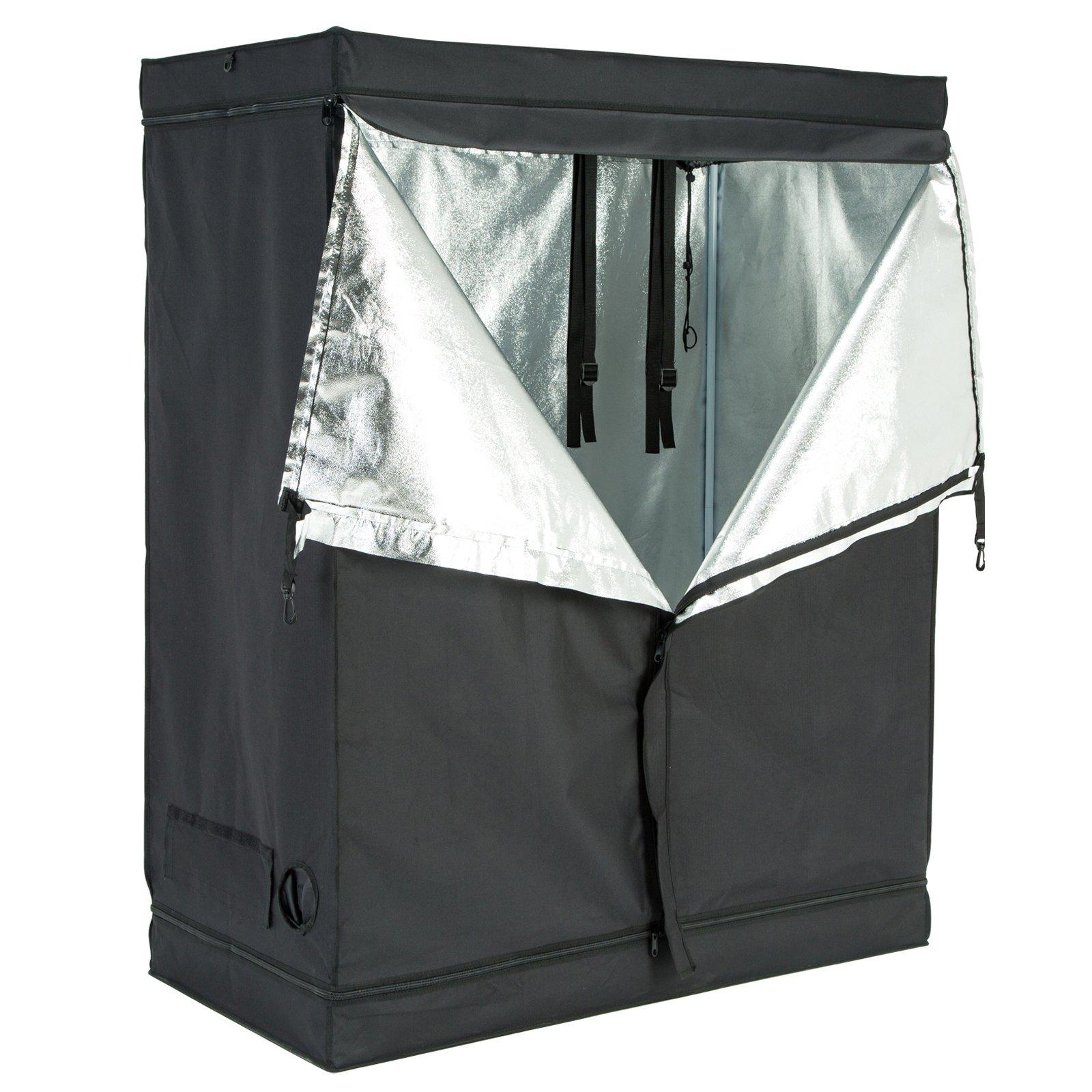 Uenjoy 48''x24''x60'' Indoor Grow Tent Room Reflective 600D Mylar Hydroponic Non Toxic Hut
