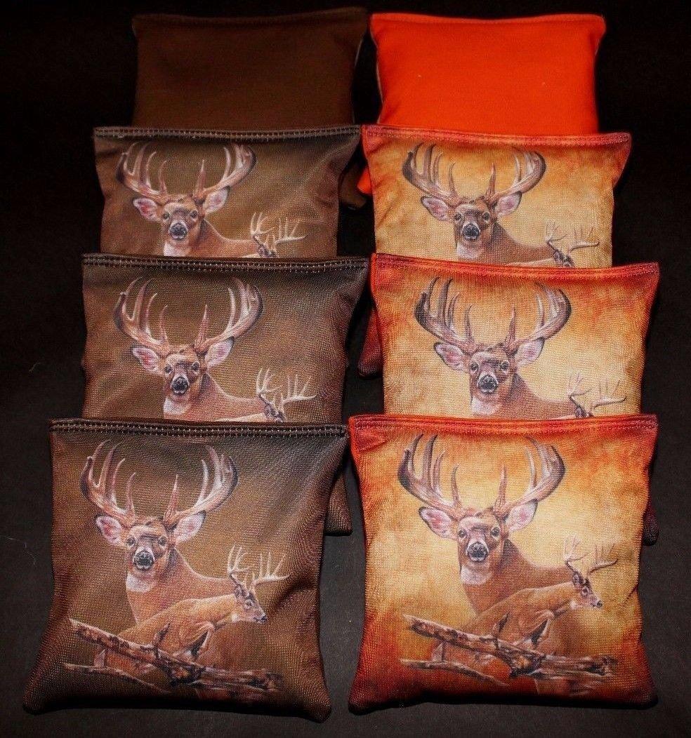 BackYardGamesUSA Deer Hunting Fishing real tree Camo Custom 8 ACA Regulation Cornhole bags B141