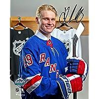 "$79 » Kaapo Kakko New York Rangers Autographed 8"" x 10"" 2019 NHL Draft Night Photograph - Fanatics Authentic Certified"