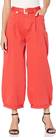 Armani Exchange Balloon Fit Rolled Up Bottom Leg Jeans para Mujer