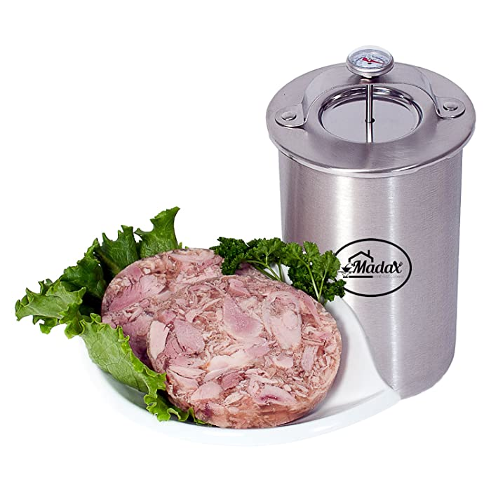 Ham Maker - Stainless Steel Meat Press for Making Healthy Homemade Deli Meat with Thermometer and Recipes