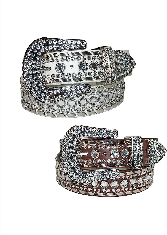 CTM Womens 1 1//2 Inch Western Diamante Belt