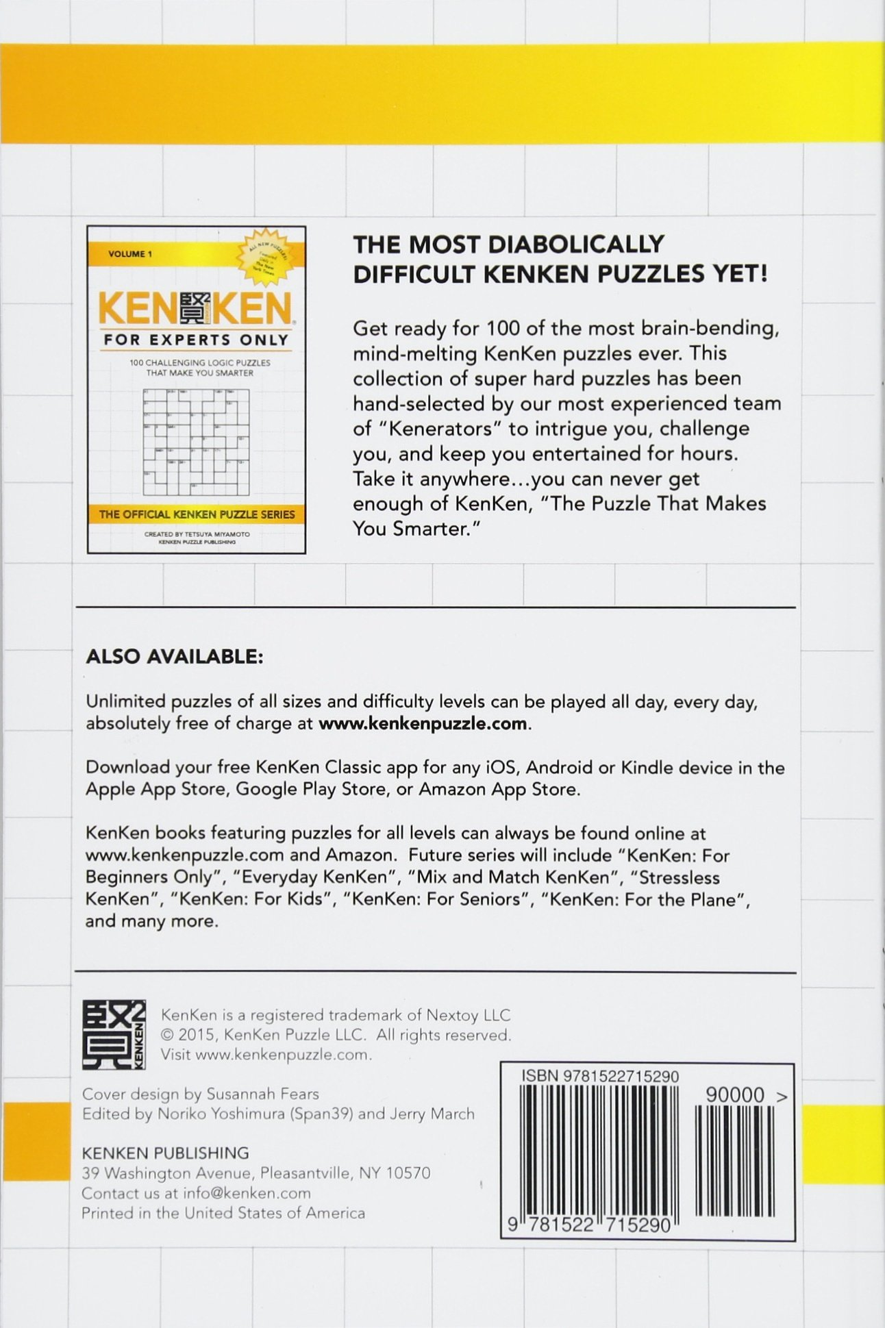 image about Printable Kenken Puzzles 9x9 referred to as KenKen: For Authorities Simply just: 100 Intense Logic Puzzles That