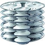 Prestige Stainless Steel Idli Plates, 6 X Dia 195mm,Silver