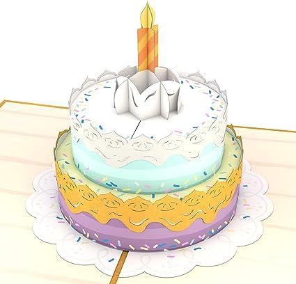 Miraculous Lovepop Happy Birthday Cake Pop Up Card 3D Card Birthday Card Personalised Birthday Cards Cominlily Jamesorg