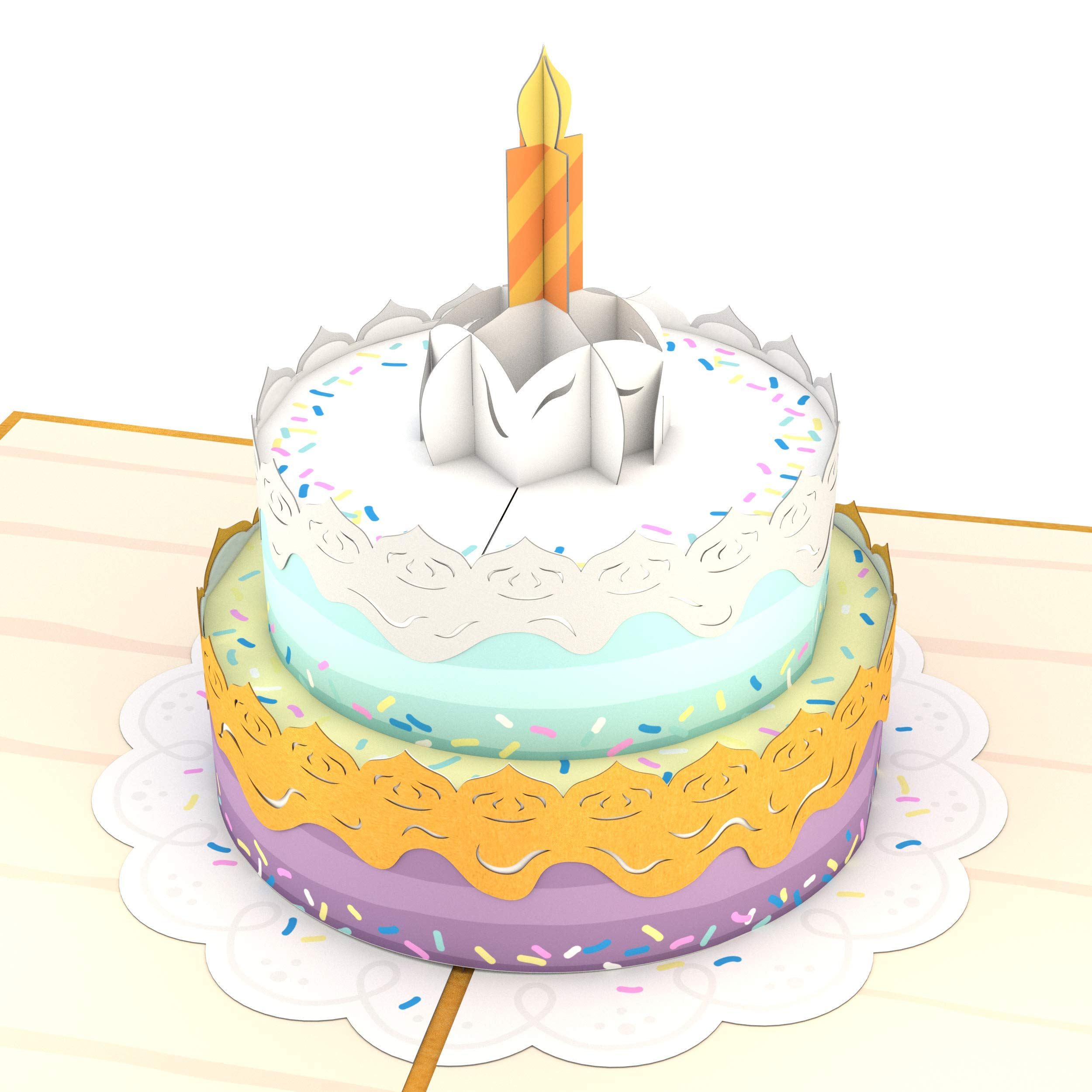 Lovepop Happy Birthday Cake Pop Up Card, 3D Card, Birthday Card