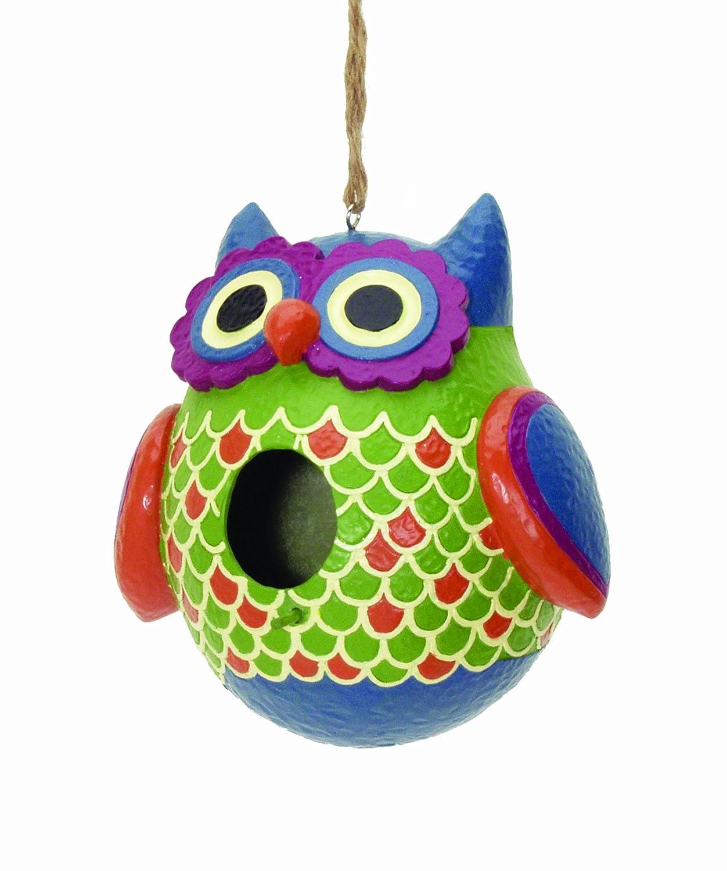 Spoontiques 10195 Decorative Owl Birdhouse B00B8OV6LE