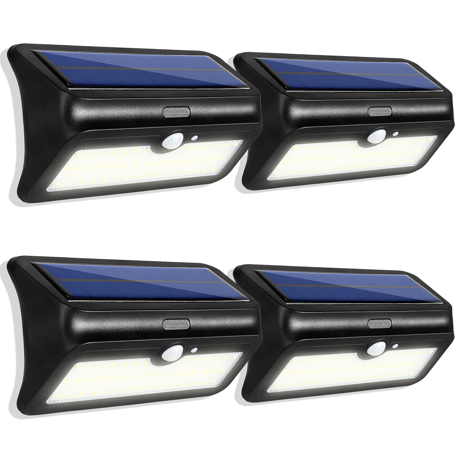 46 LED Solar Lighting Waterproof Solar Lights Outdoor Wireless Motion Sensor Light Auto On/Off with Dim Mode Solar Powered Security Light for Garden, Patio, Driveway, Back Yard (4 Pack)