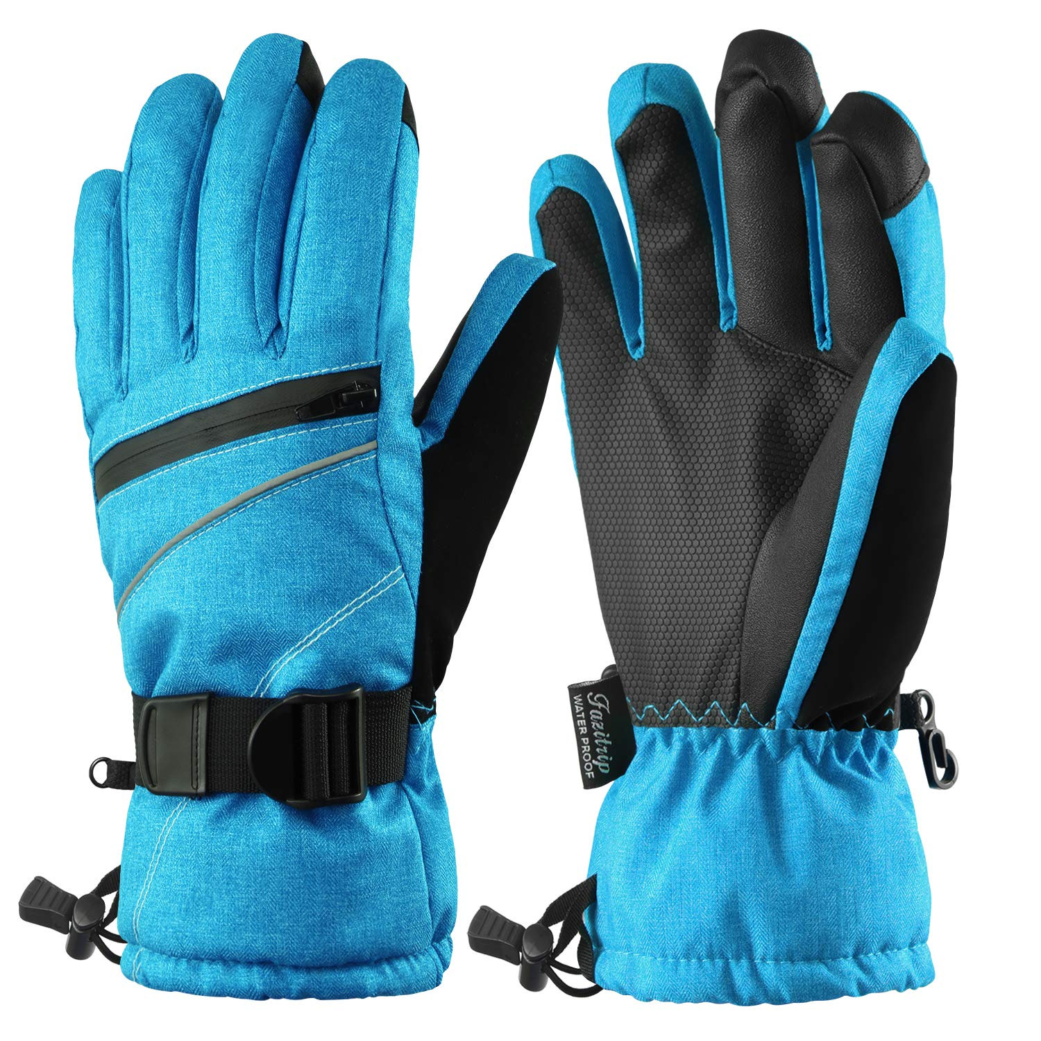 8df848dcc Fazitrip Women's Ski Gloves, 3M Thinsulate Snow Warm Insulated Winter  Gloves Windproof Waterproof Gloves for Skiing, Snowboarding and Skating
