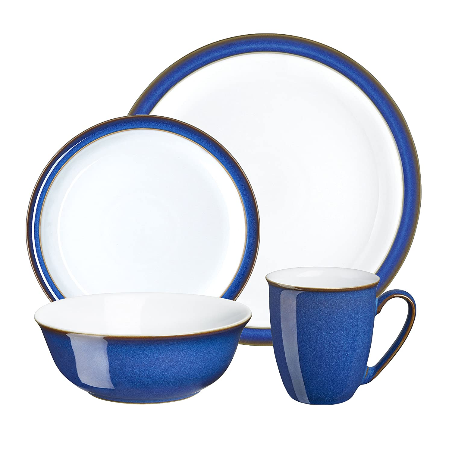 Denby Imperial Blue Boxed Tableware Set 16-Piece Amazon.co.uk Kitchen u0026 Home  sc 1 st  Amazon UK & Denby Imperial Blue Boxed Tableware Set 16-Piece: Amazon.co.uk ...
