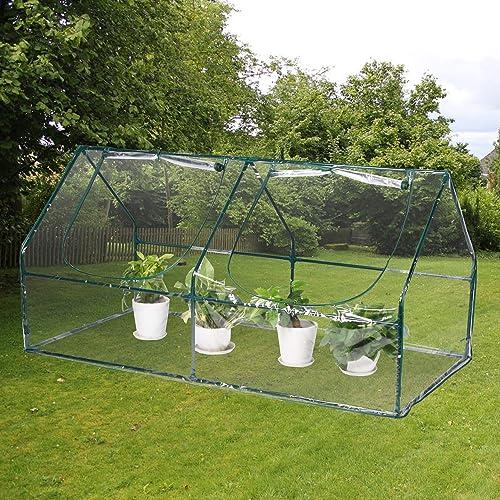 Aoxun Mini Greenhouse, PVC Waterproof Transparent Cover,Portable Garden with Zipper Opening Indoor Outdoor
