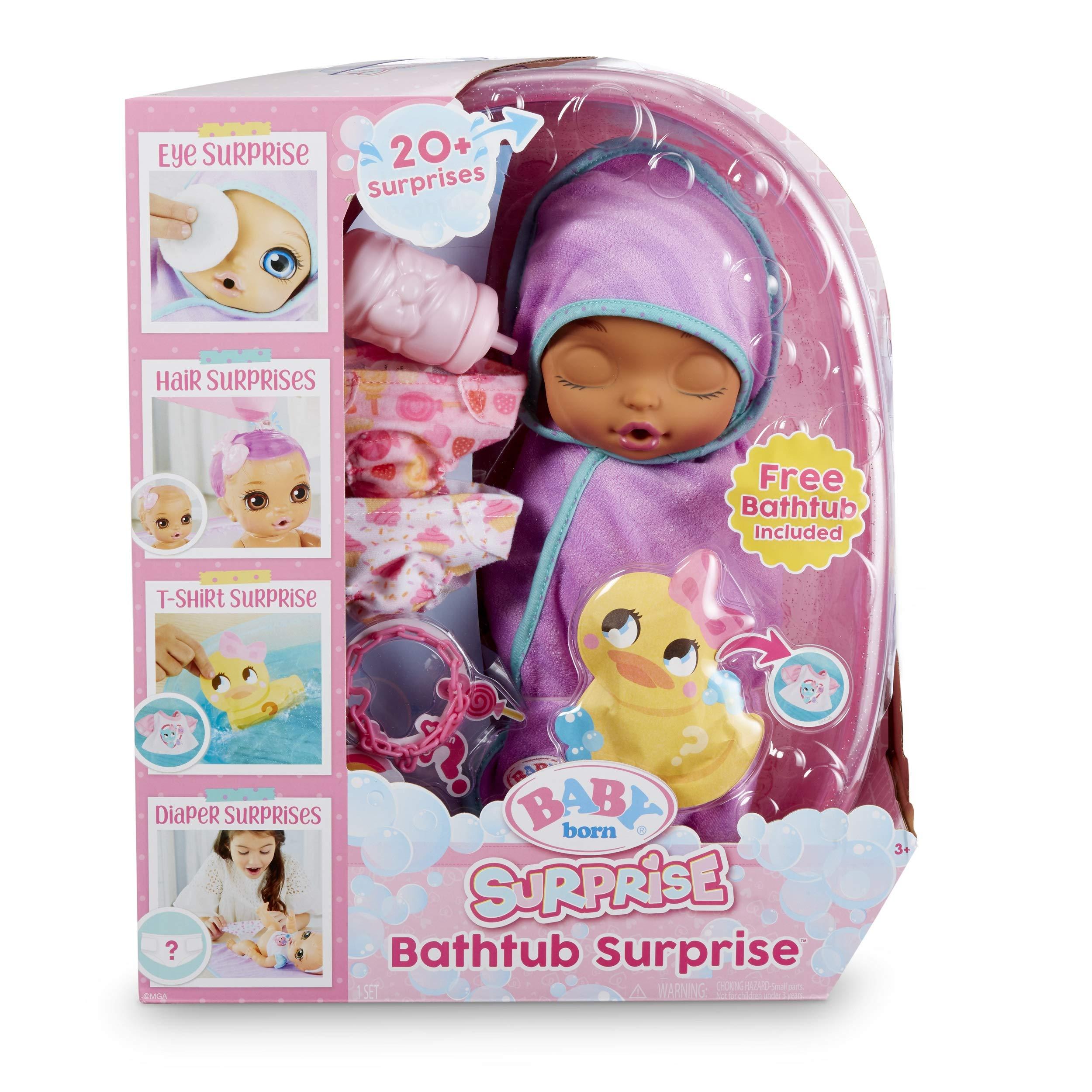 Baby Born Surprise Bathtub Surprise Purple Swaddle Bow by Baby Born