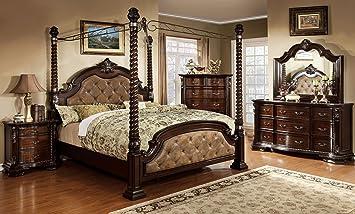 Amazon.com: Monte Vista Bedroom Furniture Luxurious Formal ...