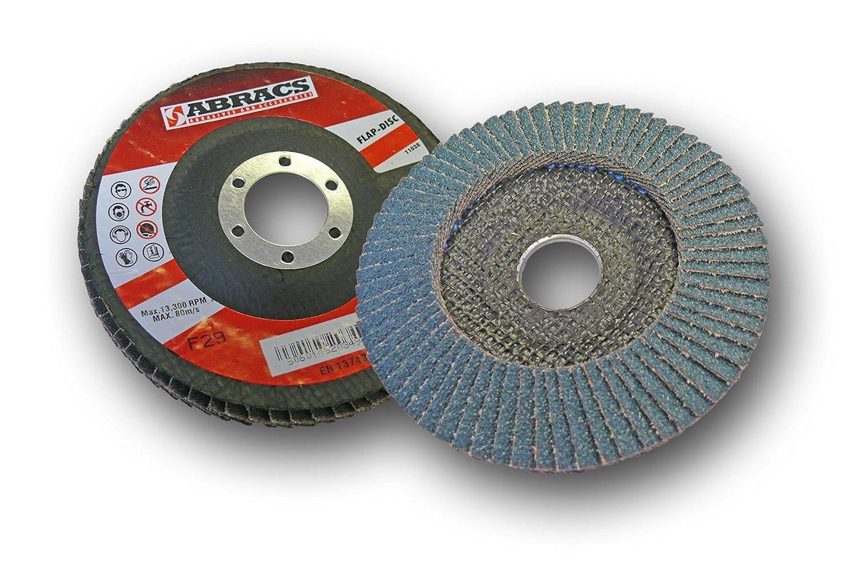 Abracs 115 x 22m x 80g Zirconium Flap Disc (5 Pieces) FZ115B08005