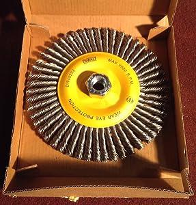 DEWALT DW49202 6-Inch by 5/8-Inch-11 HP .020 Carbon Stringer Wire Wheel