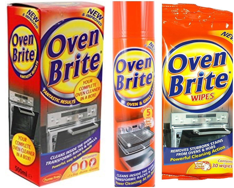 Horno & Grill - Kit de limpieza (líquido de limpieza, toallitas ...