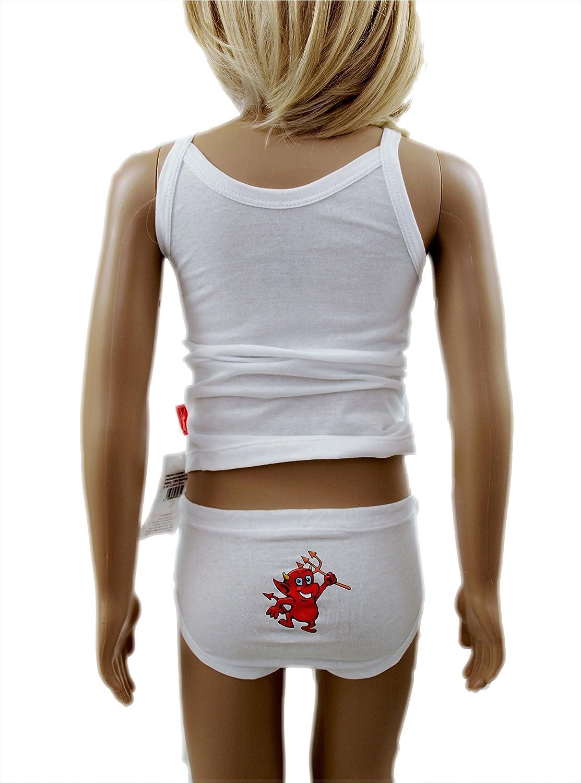 2xUnterhemd+2xSlip-4 Teile! 4er Set Slip-Unterhose-Hemd-Tr/ägerhemd-Pants aus Edler Baumwolle.Premiumqualit/ät! ennellemoo Made in EU Kinder-M/ädchen-Unterw/äsche