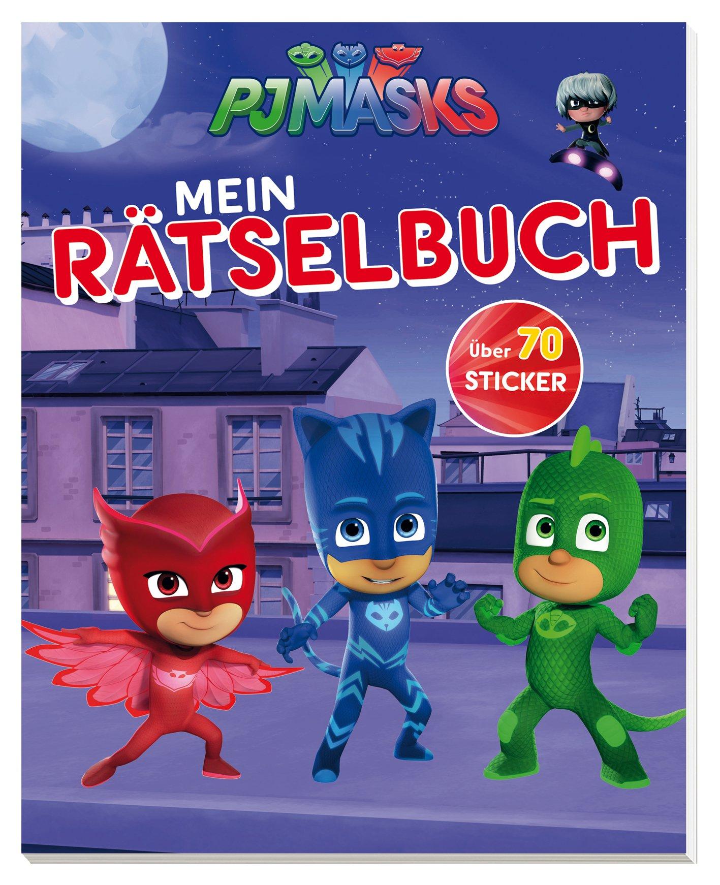 PJ Masks Mein Rätselbuch: Mit über 70 coolen Stickern Taschenbuch – 1. Februar 2018 Delphin 3961282307 empfohlenes Alter: ab 4 Jahre Comic / Superhelden