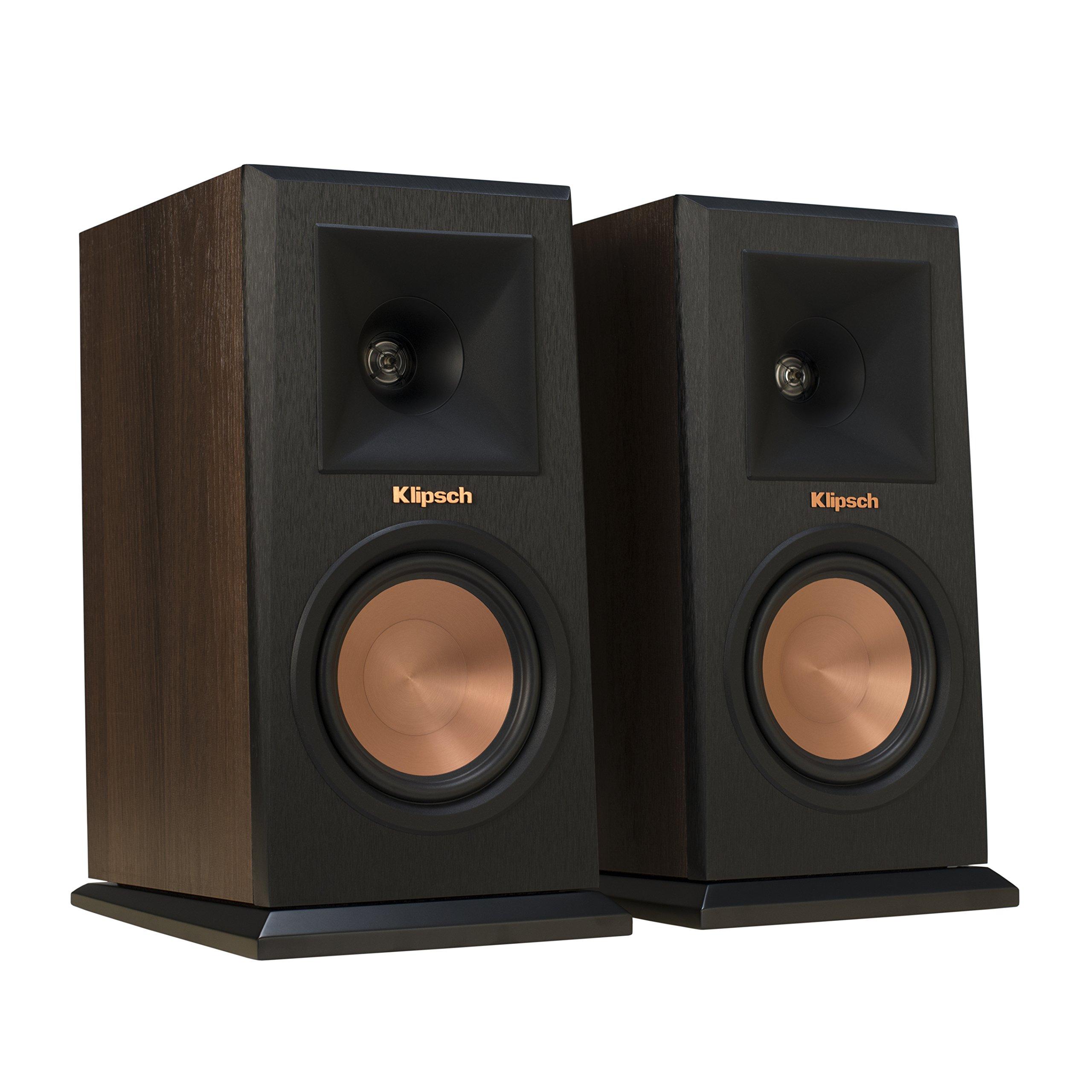 Klipsch RP-160M Walnut Bookshelf Speaker (Pair) by Klipsch