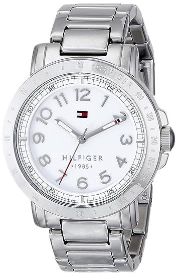 ce501240d Tommy Hilfiger 1781397 Reloj de cuarzo plateado con visualización analógica para  mujer