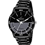 Piraso Analogue Black Dial Men's Watch (54-BK-CK)