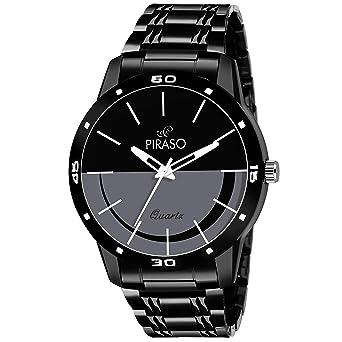 Piraso Analogue Black Dial Mens Watch (54-BK-CK)