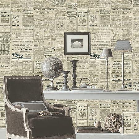Vintage Style Wallpaper Nostalgicfor For Living Room Bedroom TV Backdrop English Newspaper