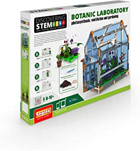 Engino Discovering STEM Botanic Laboratory | Build A Greenhouse | Illustrated Instruction Manual | Theory & Facts | Experimental Activities | STEM Construction Kit