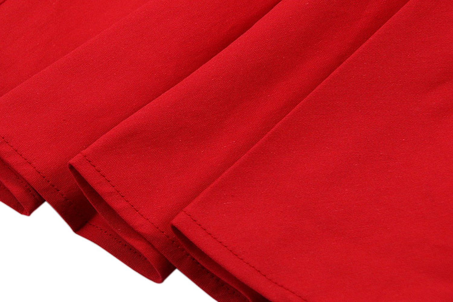 Killreal Women's High Waisted Flared Vintage Skirt for Christmas Party Red X-Large by Killreal (Image #3)